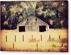 Acrylic Print featuring the photograph Hwy 3 Barn by Julie Hamilton