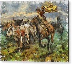 Cattle Acrylic Print by Shimi Gasaba