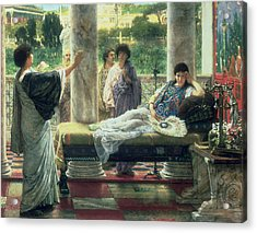 Catullus Reading His Poems Acrylic Print by Sir Lawrence Alma Tadema