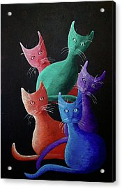 Catz Catz Catz Acrylic Print
