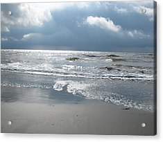 Caught A Wave Acrylic Print by B Rossitto