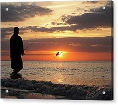 Caught At Sunset Acrylic Print