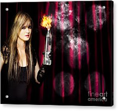 Caught In The Act Of Setting The Stage On Fire Acrylic Print
