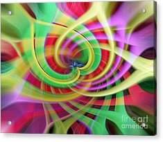 Caught Up In A Colorful Swirl Acrylic Print