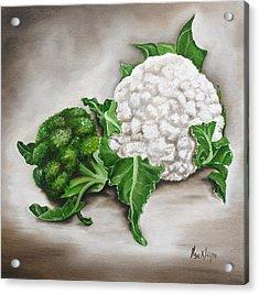 Cauliflower Acrylic Print by Ilse Kleyn