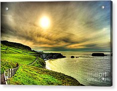 Causeway Sunset Walk Acrylic Print by Kim Shatwell-Irishphotographer