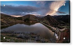 Causey Spring Sunset Acrylic Print by Justin Johnson