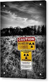 Acrylic Print featuring the photograph Caution by Michaela Preston