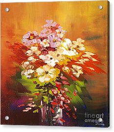 Acrylic Print featuring the painting Cavalcade Of Color by Tatiana Iliina