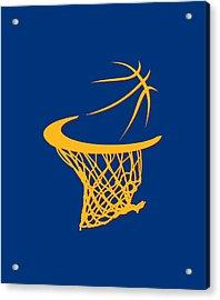 Cavaliers Basketball Hoop Acrylic Print by Joe Hamilton