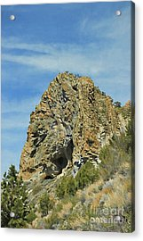 Acrylic Print featuring the photograph Cave Rock At Tahoe by Benanne Stiens