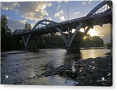 Caveman Bridge At Sunset Acrylic Print
