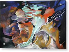 Cavernous Tumble Acrylic Print by Rae Andrews