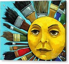 Acrylic Print featuring the painting Cbs Sunday Morning Sun Art by Linda Apple