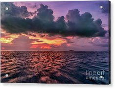 Acrylic Print featuring the photograph Cebu Straits Sunset by Adrian Evans
