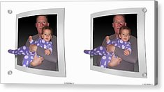 Cece - Gently Cross Your Eyes And Focus On The Middle Image Acrylic Print by Brian Wallace