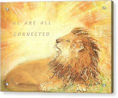 Acrylic Print featuring the drawing Cecil The Lion by Denise Fulmer