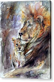 Acrylic Print featuring the painting Cecil The Patriarch No More by Ginette Callaway