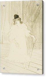 Cecy Loftus Acrylic Print by Henri De Toulouse-Lautrec