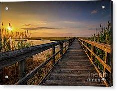 Cedar Beach Pier, Long Island New York Acrylic Print