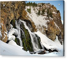 Cedar Creek Falls Winter Acrylic Print
