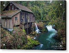 Cedar Grist Mill Acrylic Print