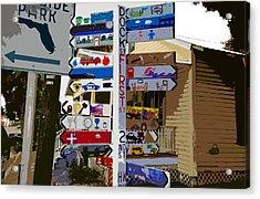 Cedar Key Directional Acrylic Print by David Lee Thompson