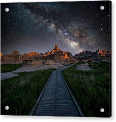 Acrylic Print featuring the photograph Cedar Pass Milky Way by Darren White