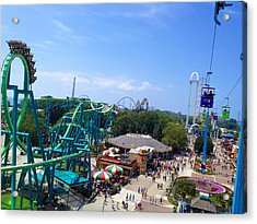 Cedar Point Amusement Park Acrylic Print