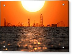 Cedar Point Skyline 2 Acrylic Print