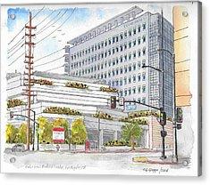 Cedars-sinai Medical Center, 3rd And San Vicente, West Hollywood, Ca Acrylic Print by Carlos G Groppa