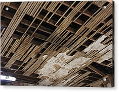 Ceiling Laths Acrylic Print by Jeff Roney
