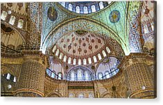 Ceiling Of Blue Mosque Acrylic Print