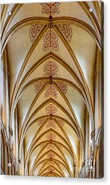 Ceiling, Wells Cathedral. Acrylic Print