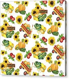Celebrate Abundance Harvest Half Drop Repeat Acrylic Print