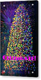 Celebrate In Lights Acrylic Print by ARTography by Pamela Smale Williams