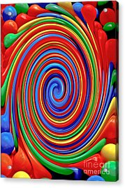 Celebrate Life And Have A Swirl Acrylic Print