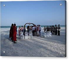 Celebrate Marriage On The Beach Acrylic Print