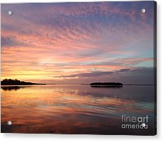 Celebrating Sunset In Key Largo Acrylic Print