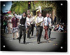 Celebrating The Holiday With Song Acrylic Print by Michael Riley