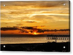 Celebrating The Setting Sun Acrylic Print by Frank J Benz