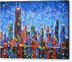 Celebration City Acrylic Print by J Loren Reedy