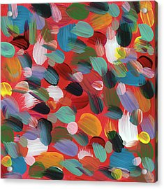 Celebration Day- Art By Linda Woods Acrylic Print by Linda Woods