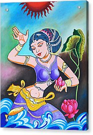 Celebration Of Woman Acrylic Print by Ragunath Venkatraman