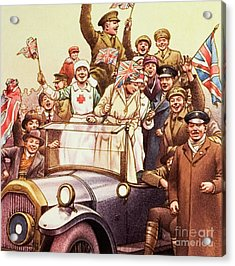 Celebrations Post World War I Acrylic Print by Pat Nicolle