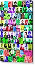 Celebrity Mugshots Acrylic Print by Jon Neidert