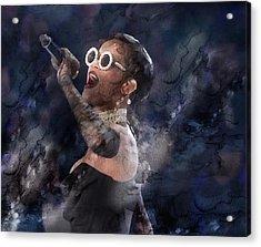 Celebrity / Rihanna Acrylic Print by Jani Heinonen