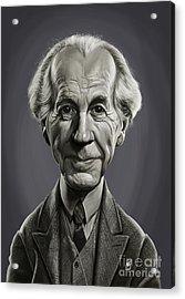 Acrylic Print featuring the digital art Celebrity Sunday - Frank Lloyd Wright by Rob Snow