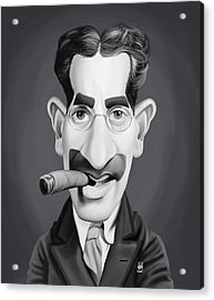 Celebrity Sunday - Groucho Marx Acrylic Print by Rob Snow