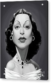 Acrylic Print featuring the digital art Celebrity Sunday - Hedy Lamarr by Rob Snow